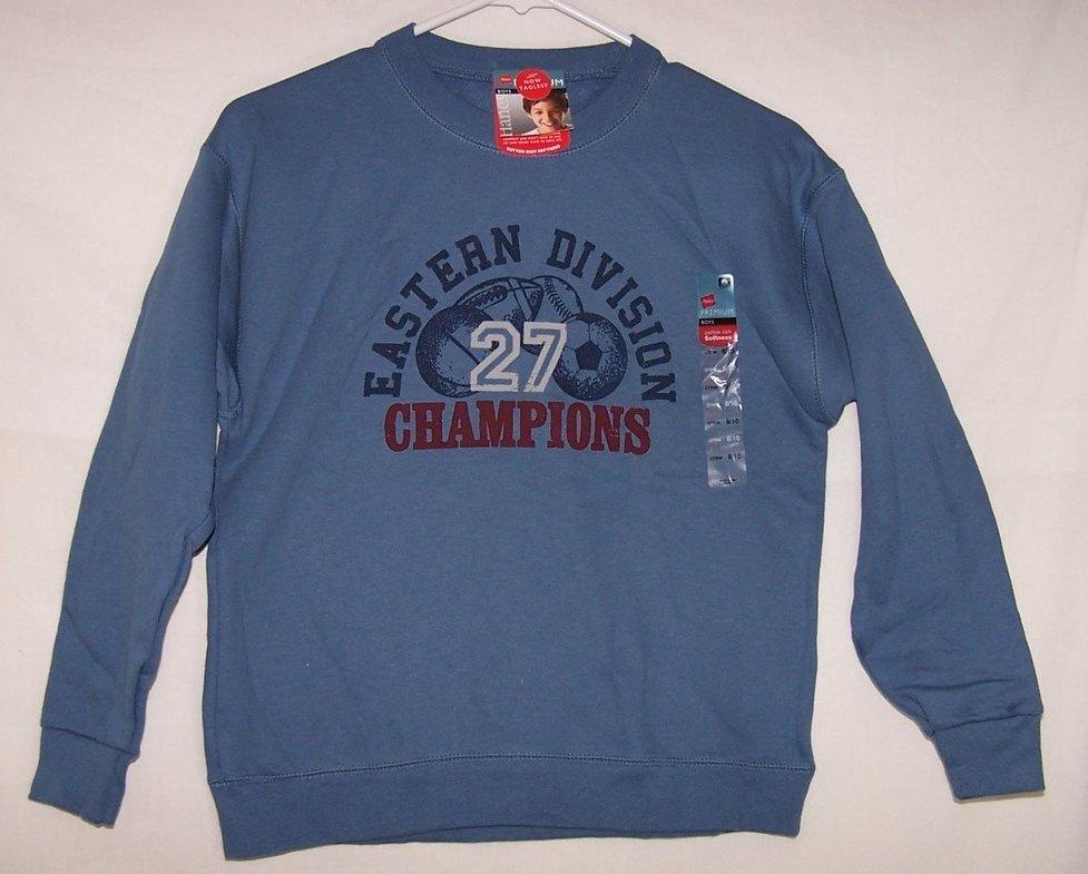 New Boys Sz 8,10 Long Sleeved Shirt, Eastern Division Champions, Hanes