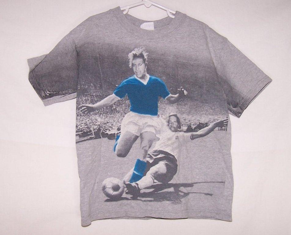 Boys Sz M, Soccer T Shirt, Short Sleeved, Freeze