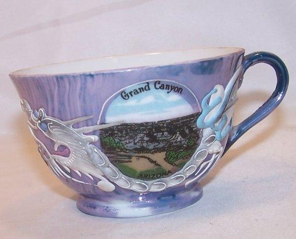 Dragonware Teacup, Tea Cup, w Geisha, Grand Canyon Souvenir