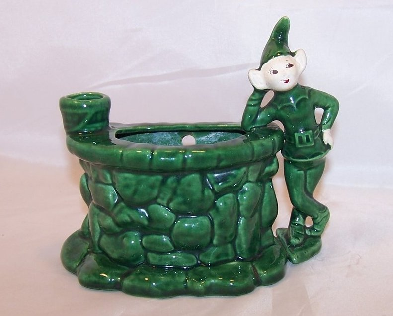 Image 0 of Treasure Craft Wishing Well Wall Pocket, Pixie Planter, Elf California