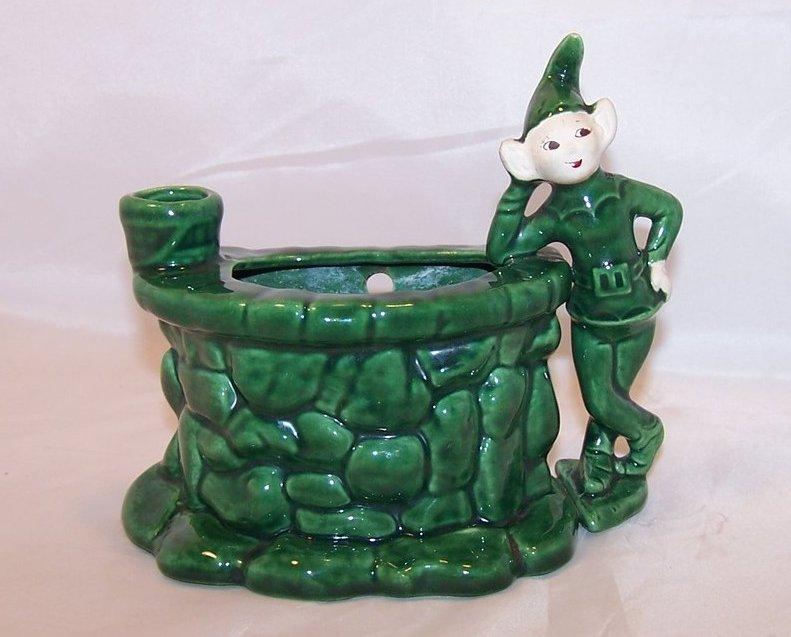 Treasure Craft Wishing Well Wall Pocket, Pixie Planter, Elf California
