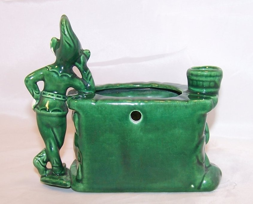 Image 2 of Treasure Craft Wishing Well Wall Pocket, Pixie Planter, Elf California