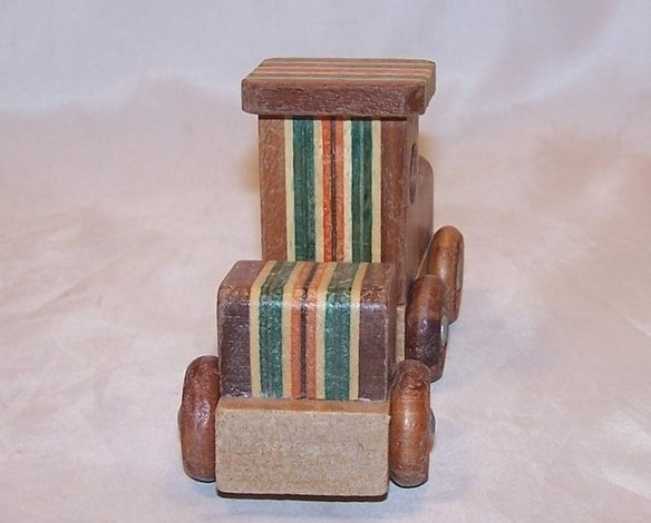 Image 1 of Train Locomotive, Caboose of Layered Colored Wood, Woods