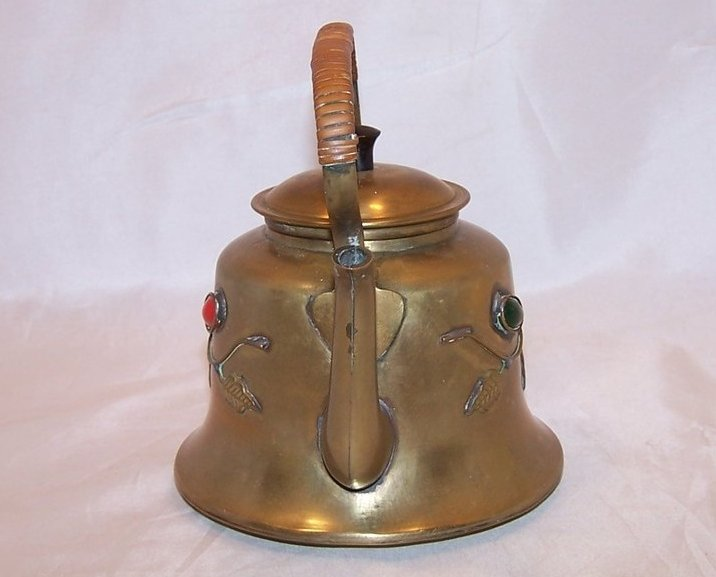 Image 1 of Brass Teapot Tea Pot w Decoration, China Chinese
