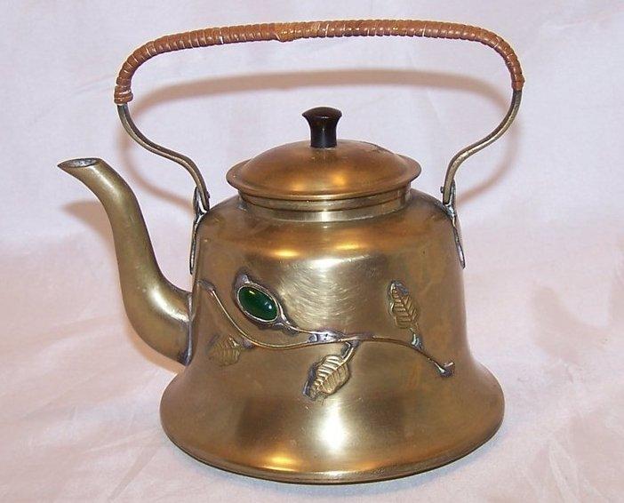 Image 2 of Brass Teapot Tea Pot w Decoration, China Chinese