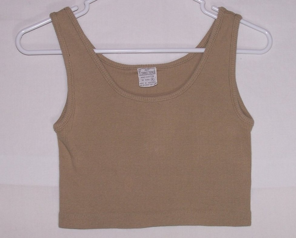 Jrs Sz M Hot Connection Crop Tank Top