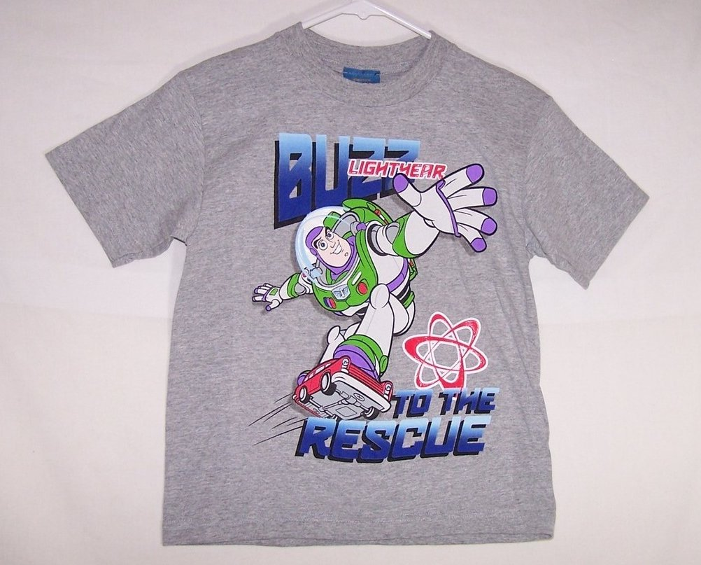 New Boys Sz L, Buzz Lightyear T Shirt, Disney Toy Story