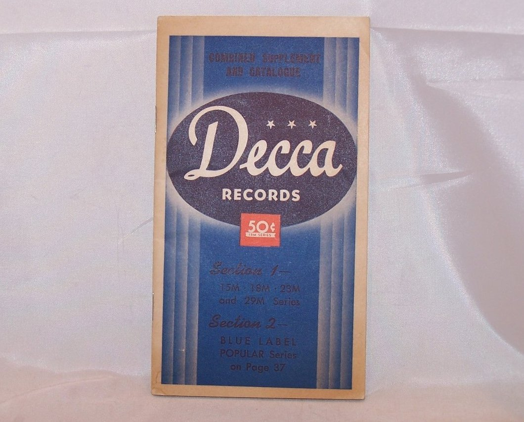 Decca Records Combined Supplement and Catalogue, Vintage