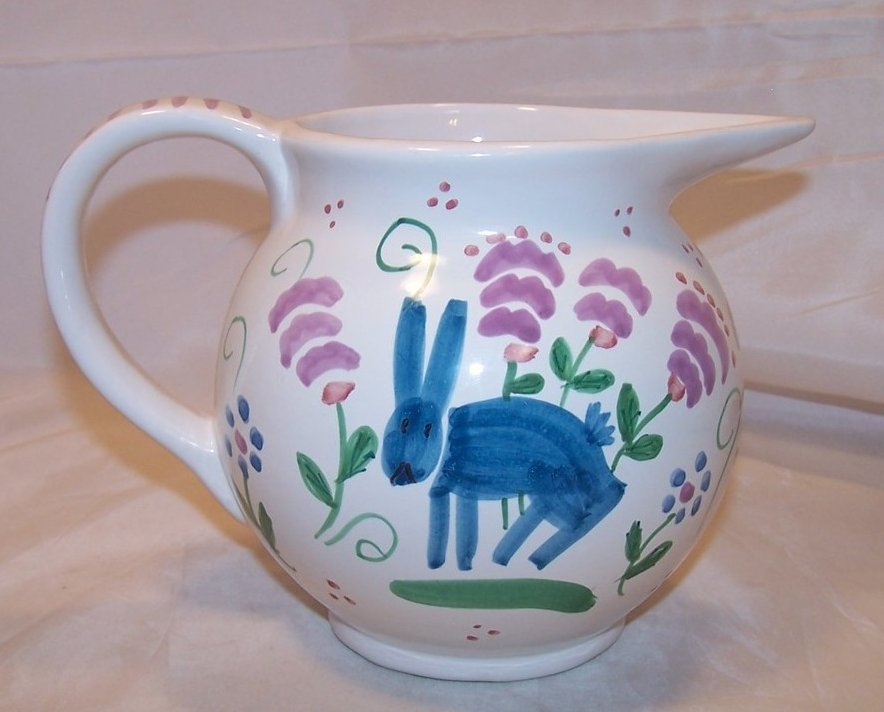 Blue Bunny Pitcher, Taste Setter by Sigma, Italy, Numbered