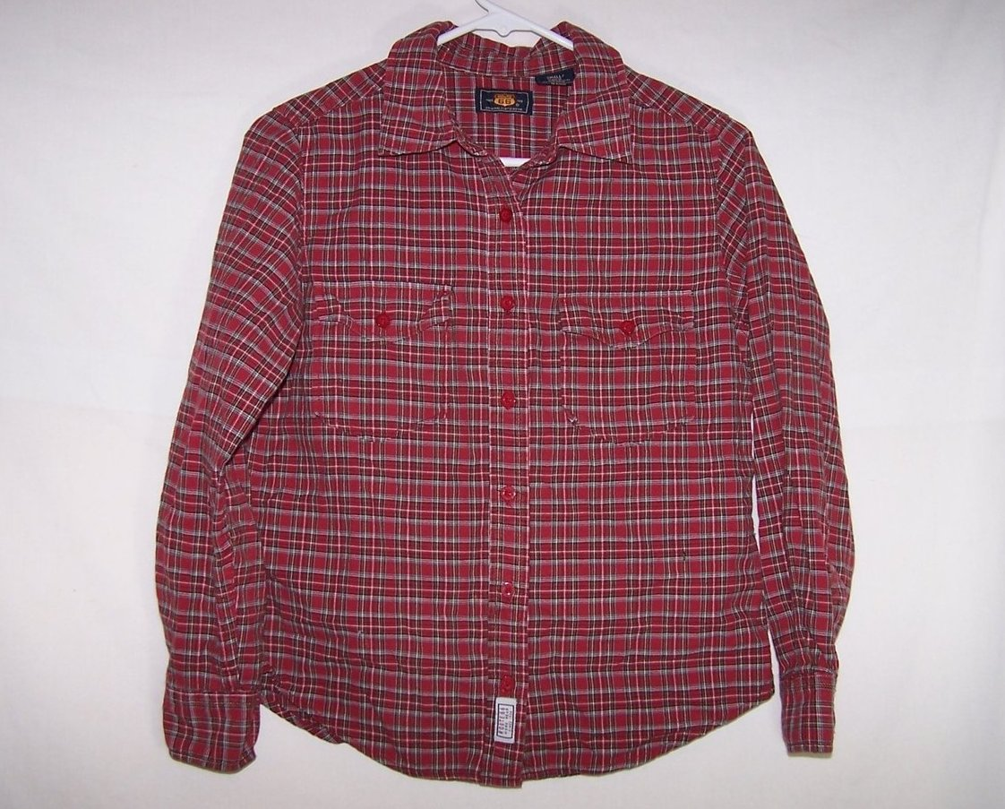 New Route 66 Red Plaid Shirt, Boys Sz S