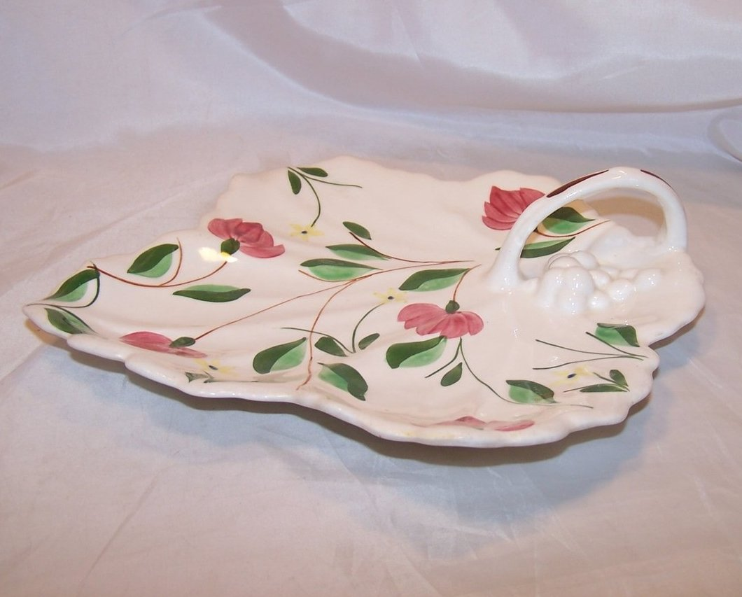 Image 1 of Blue Ridge China Maple Leaf Cake Plate, Southern Potteries