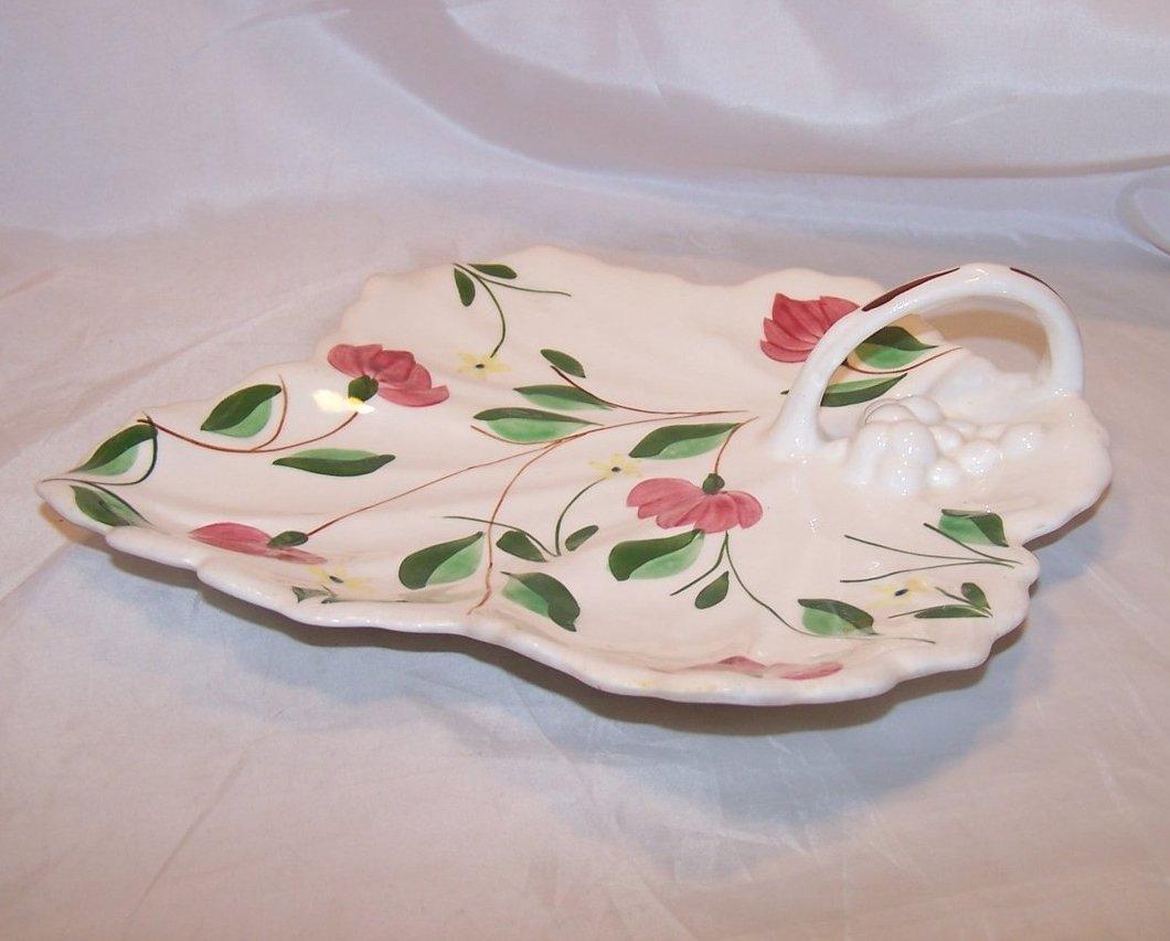 Image 1 of Blue Ridge China Maple Leaf Cake Plate, Southern Potteries