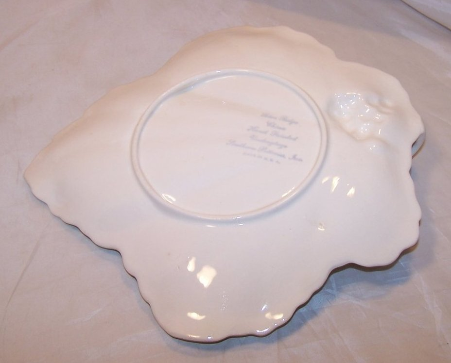 Image 4 of Blue Ridge China Maple Leaf Cake Plate, Southern Potteries