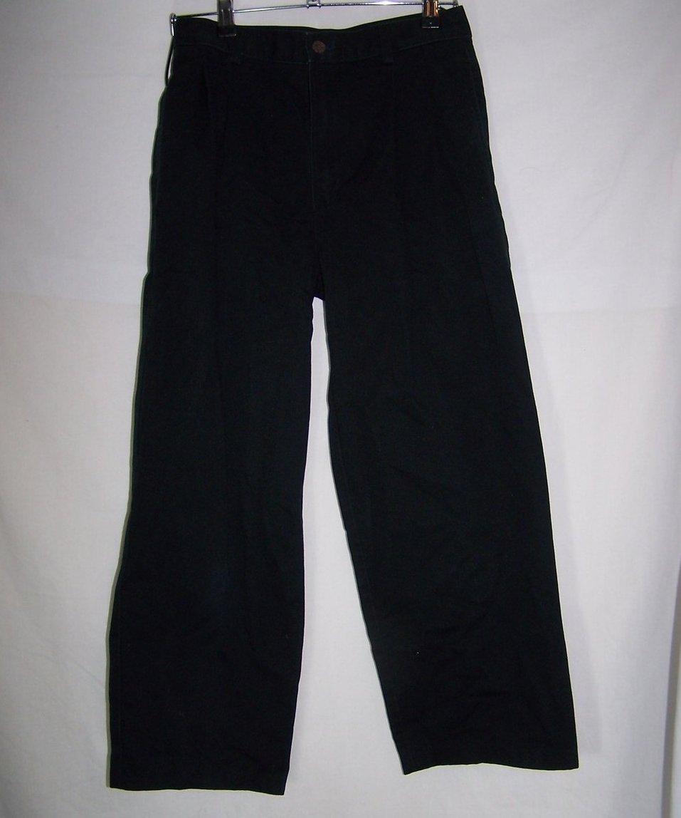 Dress Pants, Boys Black 16 Reg Izod, Pleated Waist