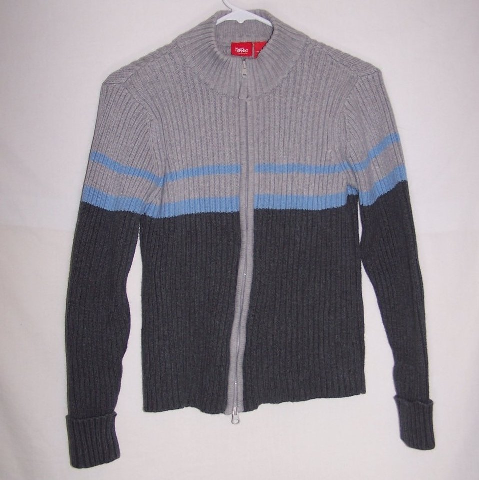 Mossimo Juniors L, Zippered Sweater Jacket