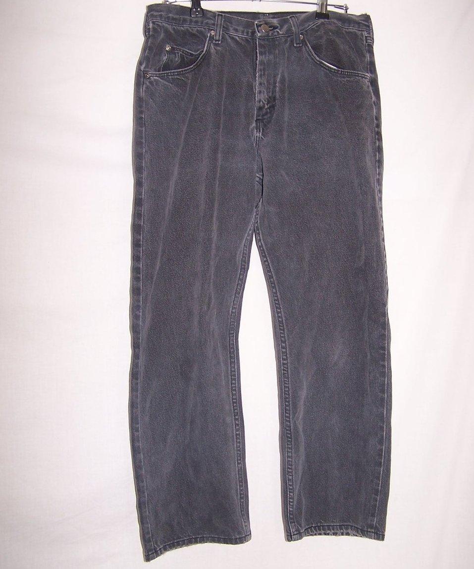 Size 34 x 30 Mens Jeans, Wrangler, Faded Black