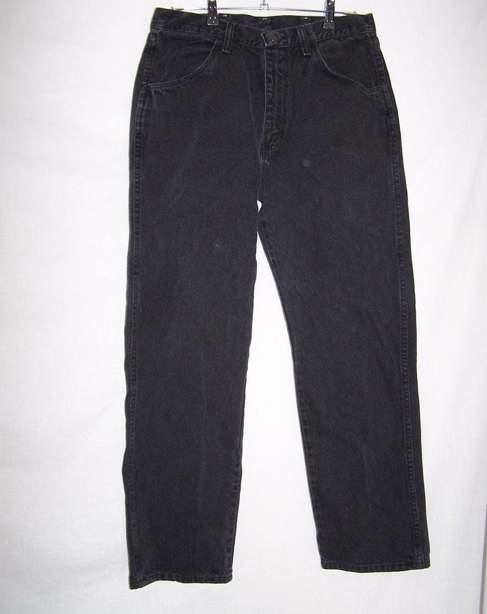 Size 34 x 30 Mens Jeans, Rustler, Black