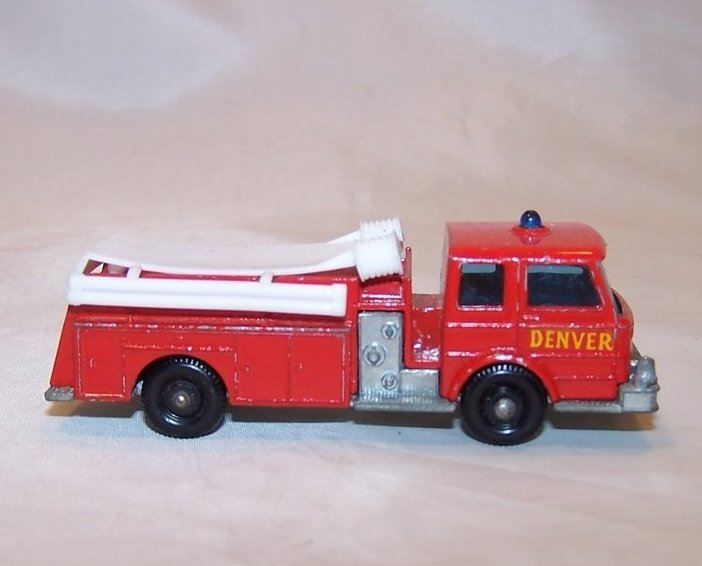 Thumbnail of Lesney Matchbox Series Die Cast Toy Fire Pumper Truck, VGC