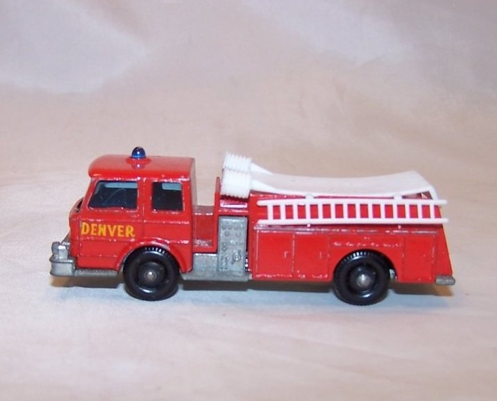 Image 1 of Lesney Matchbox Series Die Cast Toy Fire Pumper Truck, VGC