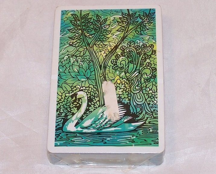 Playing Cards Single Deck Vntg Swan Playing Cards, Orig Pkg