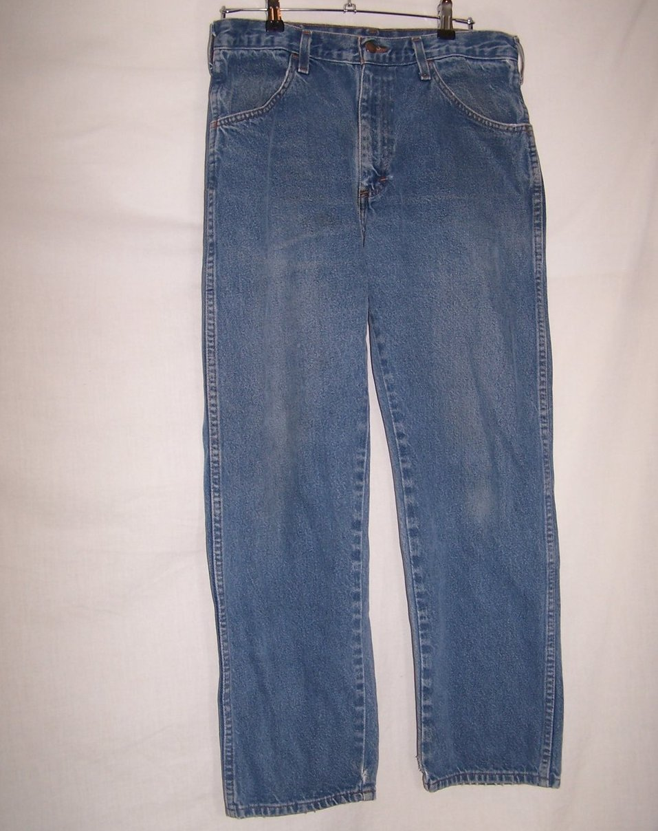 Size 34 x 30 Mens Jeans, Rustler, Blue, Distressed