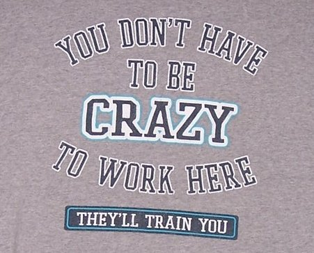 You Dont Have To Be Crazy T Shirt, Boys Sz XL 16, 18