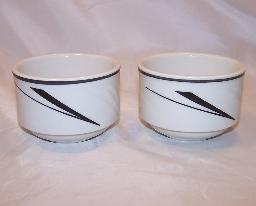 Art Deco Style Bowl, Dish, 2 Bowls, Sterling China, 1991