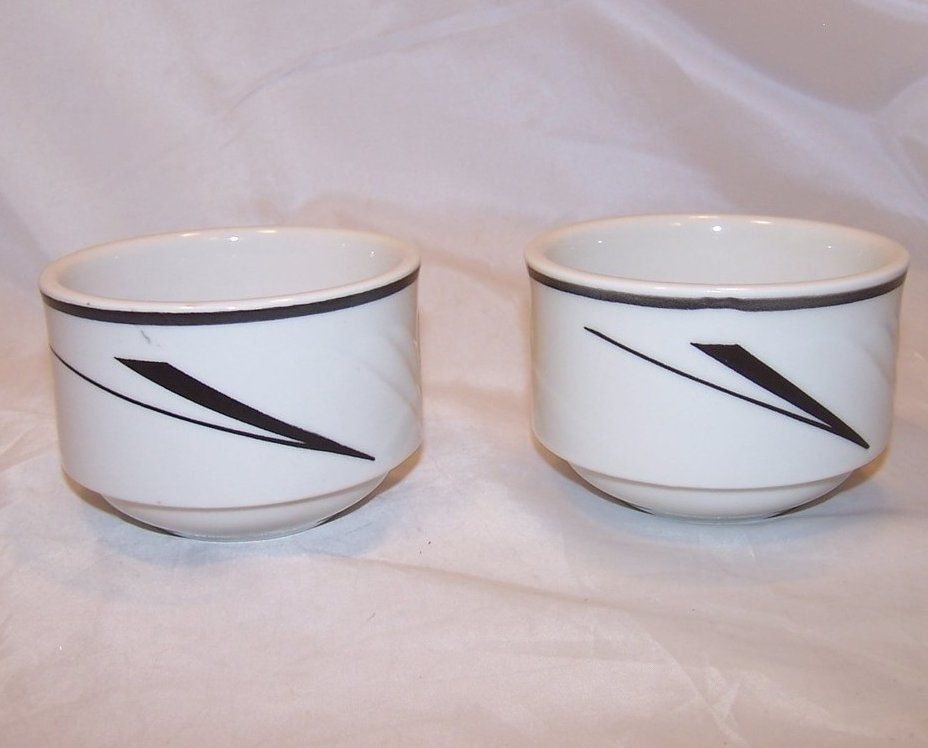Image 1 of Art Deco Style Bowl, Dish, 2 Bowls, Sterling China, 1991