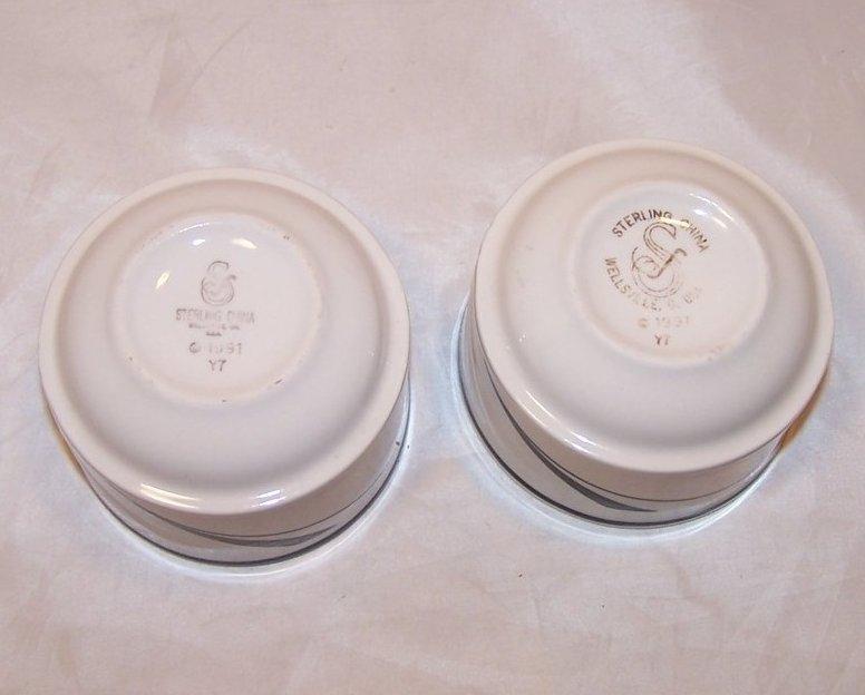 Image 3 of Art Deco Style Bowl, Dish, 2 Bowls, Sterling China, 1991