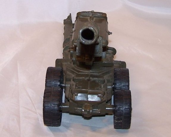 Image 1 of MAR Plastic Toy Cannon on Trailer