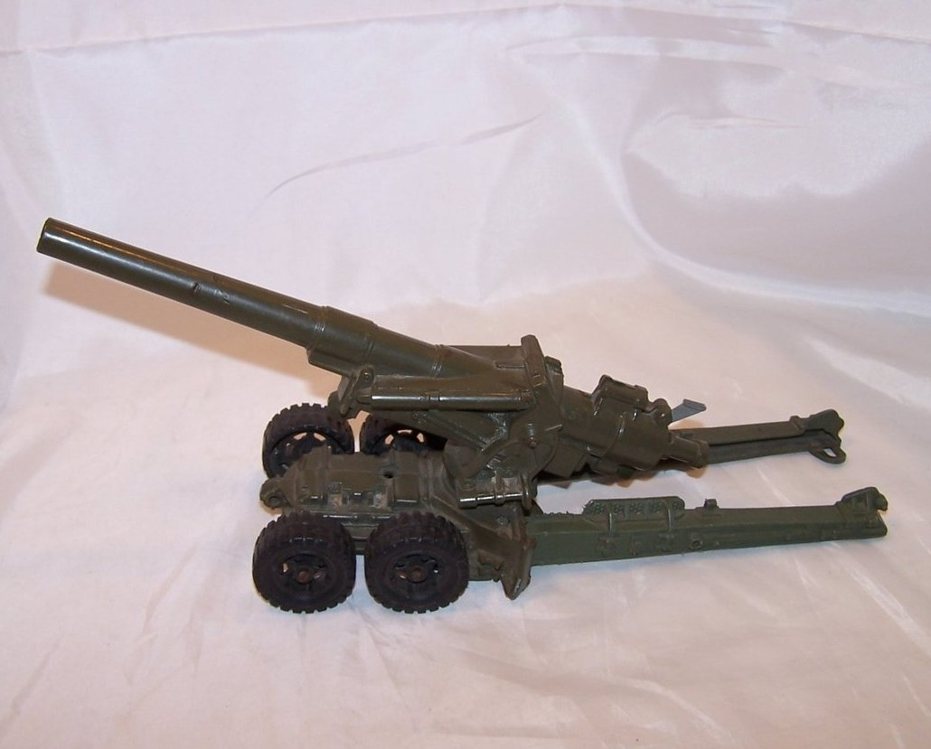 Image 2 of MAR Plastic Toy Cannon on Trailer