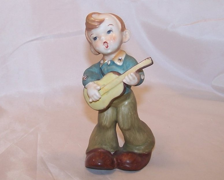 Singing Rhinestone Cowboy Figurine, Japan Japanese