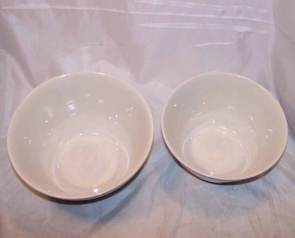 Stoneware Mixing Bowl Set Black And White Vintage
