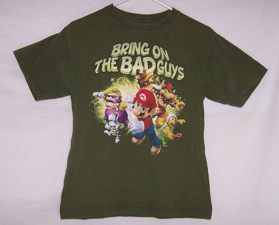 Boys Sz 14,16, Bring on the Bad Guys, Mario and Gang T Shirt