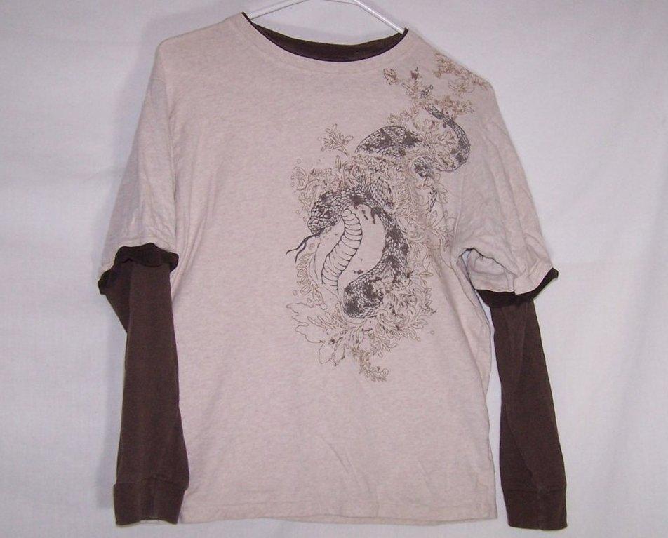 Boys Sz 14,16 Long Sleeved Snake Shirt, Faded Glory