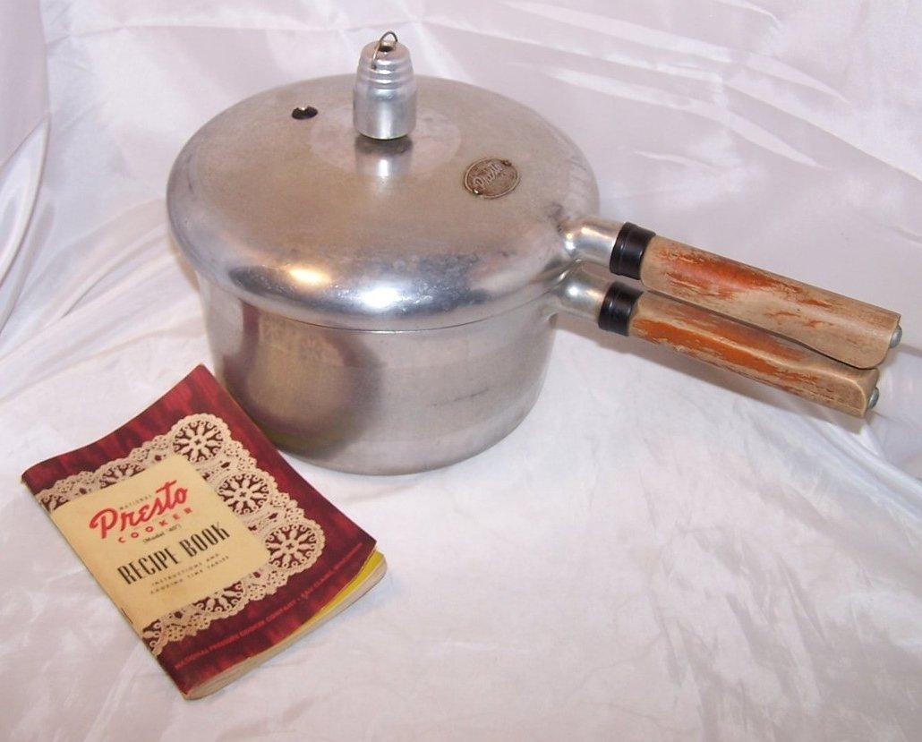 Presto 4 Qt Pressure Cooker w Instruction Recipe Book 1947
