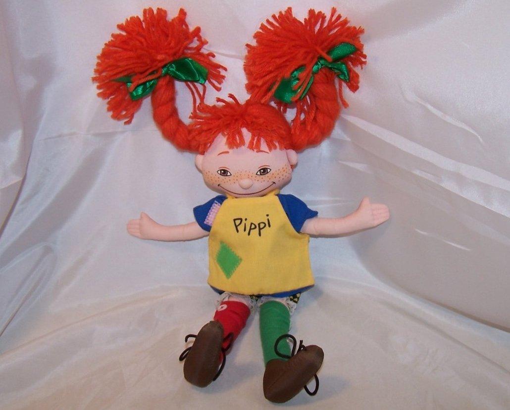Pippi Longstocking Cloth Doll, Omega Toy, Astrid Lindgren