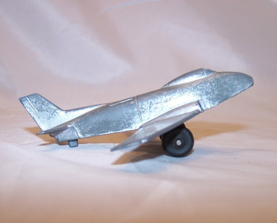 MidgeToy Silver Die Cast Toy USAF Airplane USA, Midge Toy