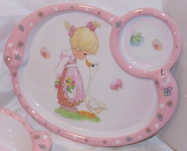 Image 2 of Little Girl and Goose, Child Plastic Plate, Bowl, Luv N Care