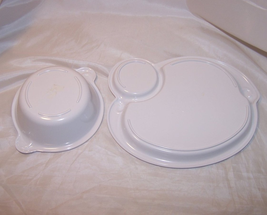 Image 3 of Little Girl and Goose, Child Plastic Plate, Bowl, Luv N Care