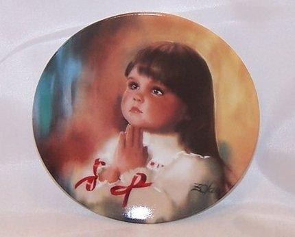 Donald Zolan Miniature Christmas Prayer Plate, Signed, 1990
