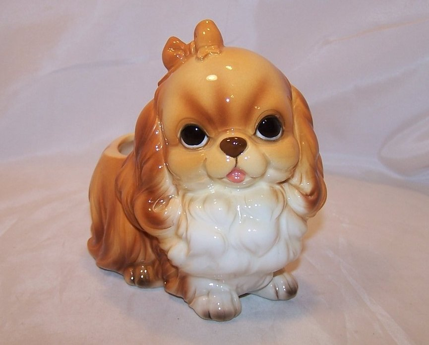 Image 0 of Perky Pekingese Puppy, Dog Planter, Napcoware