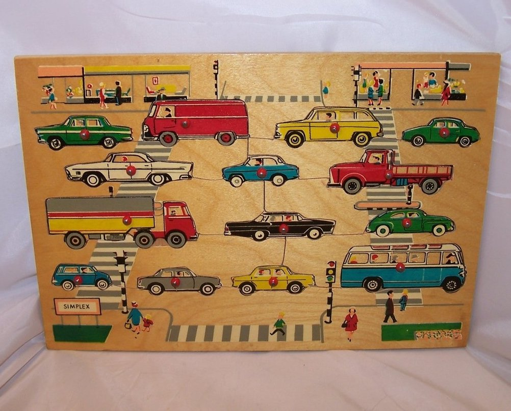 Image 0 of Car, Vehicle Wood Puzzle, Simplex, Holland