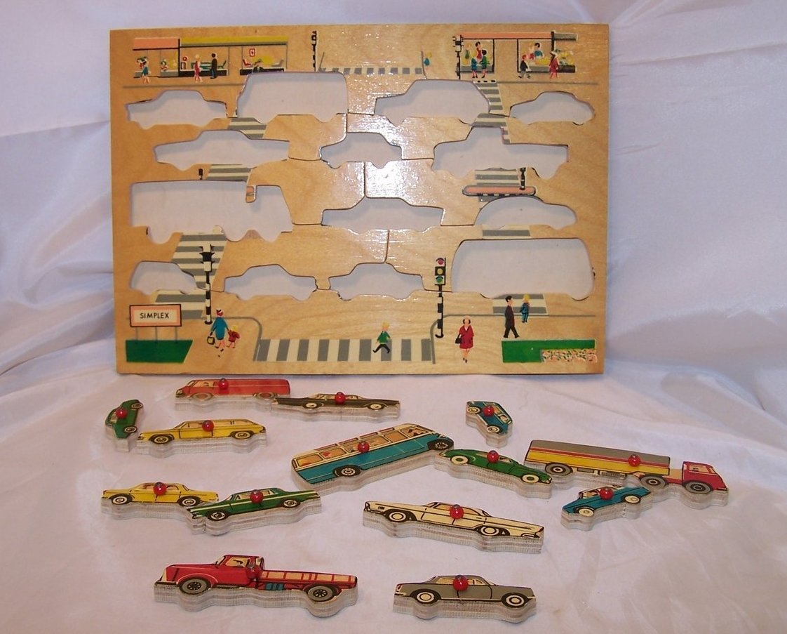 Image 1 of Car, Vehicle Wood Puzzle, Simplex, Holland