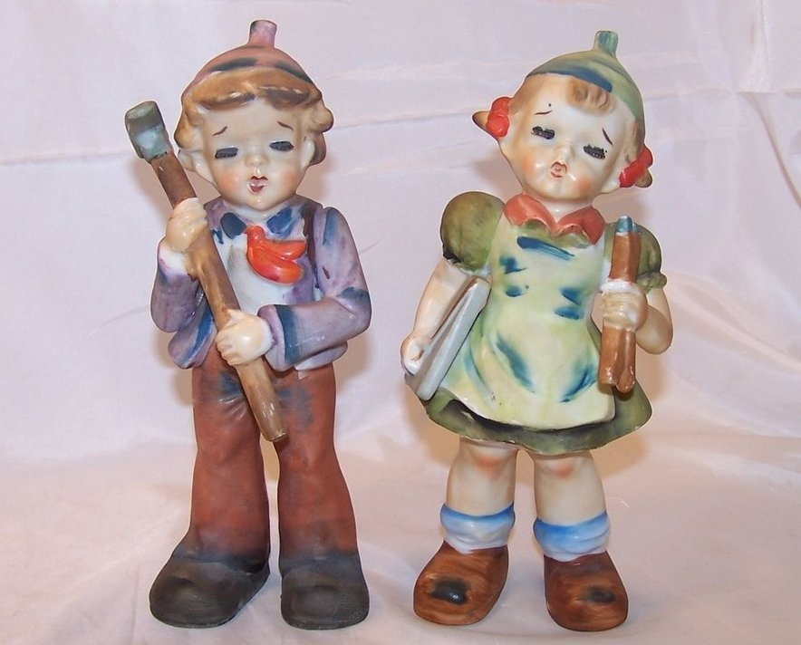 Long Lash Glamour Girl and Boy Figurines, U1677