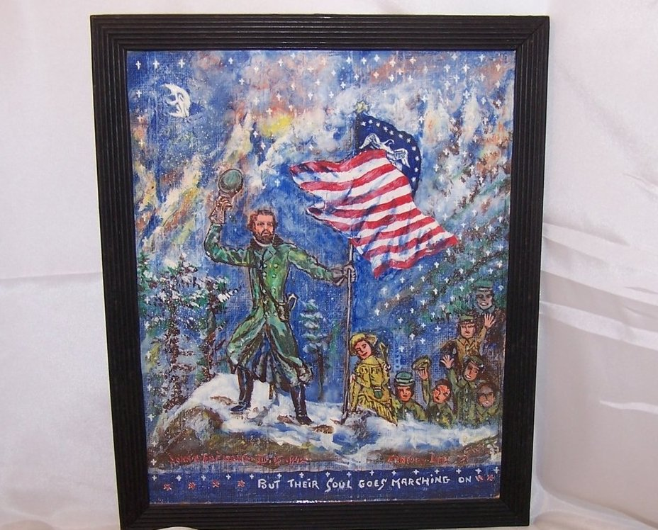 Image 1 of John C. Fremont Painting Folk Art Original