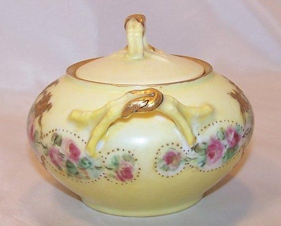Image 1 of La Ceramique, Jean Pouyat, Limoges Lidded Sugar Bowl, France
