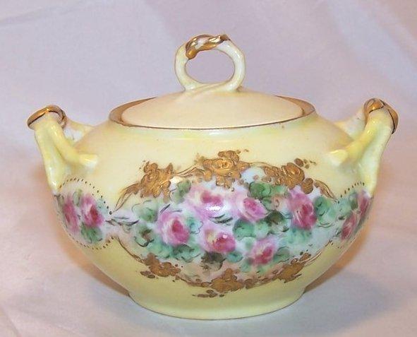 Image 2 of La Ceramique, Jean Pouyat, Limoges Lidded Sugar Bowl, France