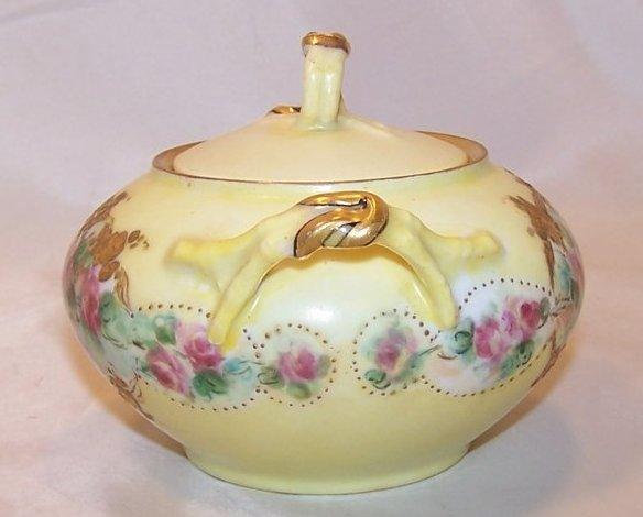 Image 3 of La Ceramique, Jean Pouyat, Limoges Lidded Sugar Bowl, France