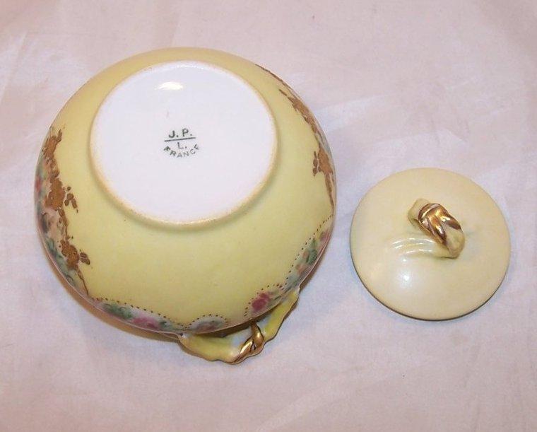 Image 5 of La Ceramique, Jean Pouyat, Limoges Lidded Sugar Bowl, France